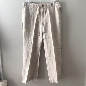 Liz Claiborne Sloan linen pants 14W petite